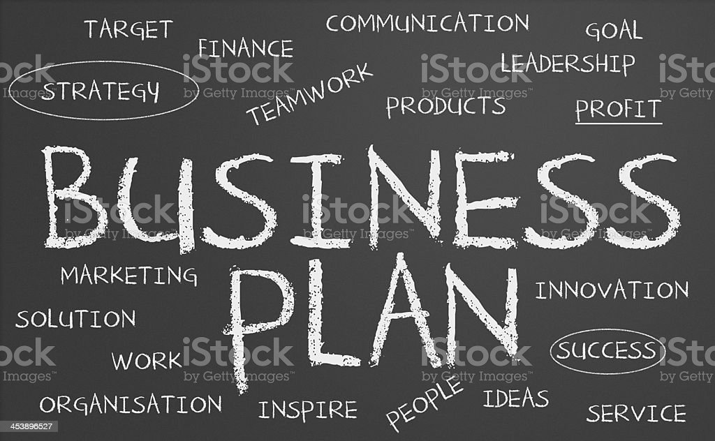 Foto de Business Plan Chalkboard e mais fotos de stock de ...