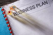 Business plan  document and gambling dices
