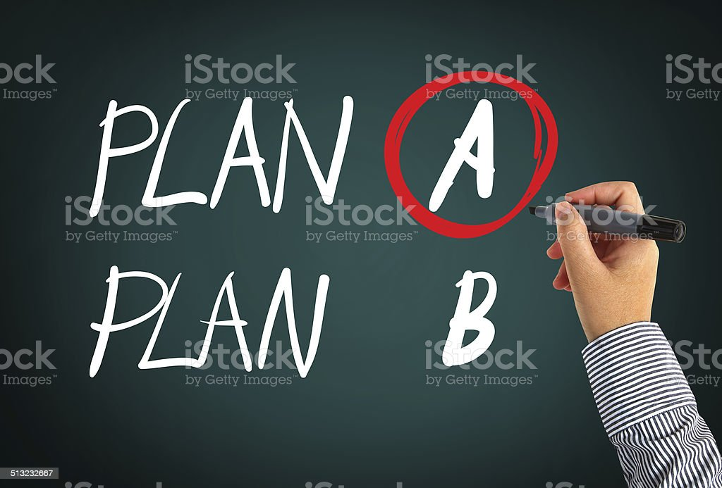 Business plan drawing stock photo