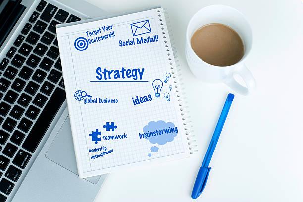 business plan auf notebook - www kaffee oder tee stock-fotos und bilder