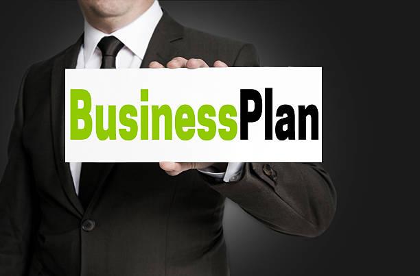 business-plan-zeichen wird von geschäftsmann konzept - businessplan vorlage stock-fotos und bilder