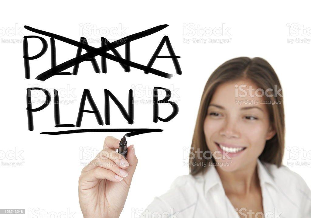 Business plan - woman drawing stock photo