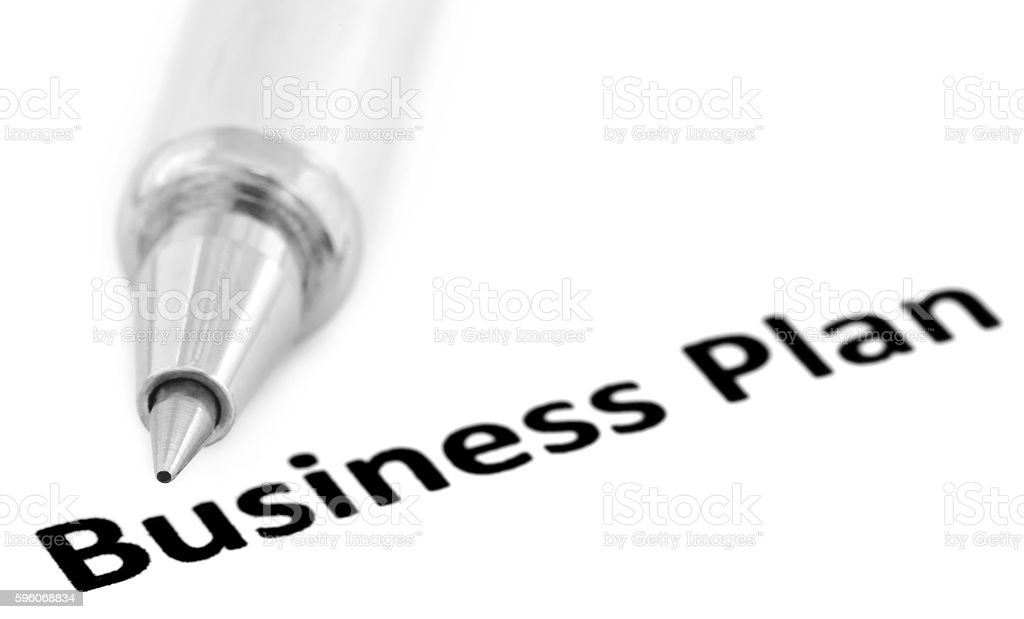 Business Plan written in a paper royalty-free stock photo