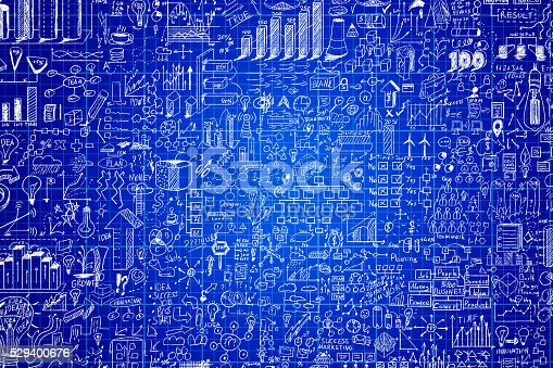 515913038 istock photo Business planning on millimeter engineering blue paper 529400676