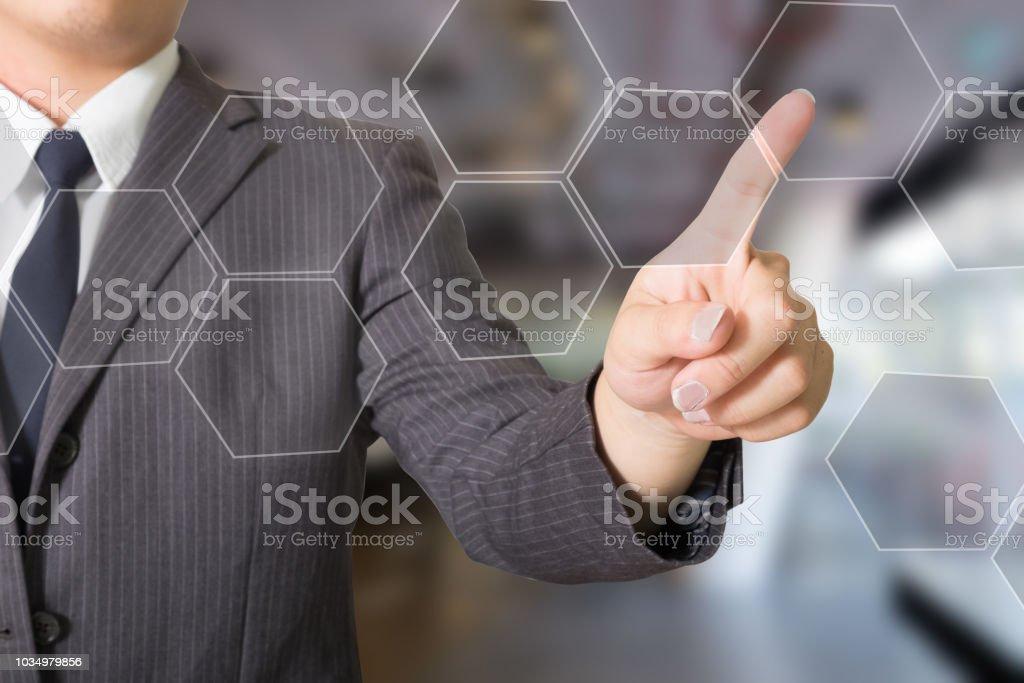 Símbolo de Botton apontador de negócios. - foto de acervo