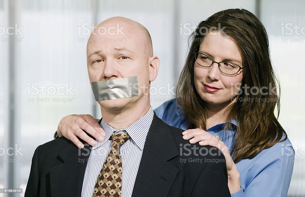 Business Portrait with Duct Tape royalty-free stock photo