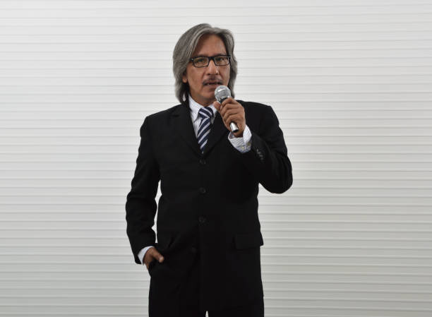 Business presentation and seminar concept stock photo