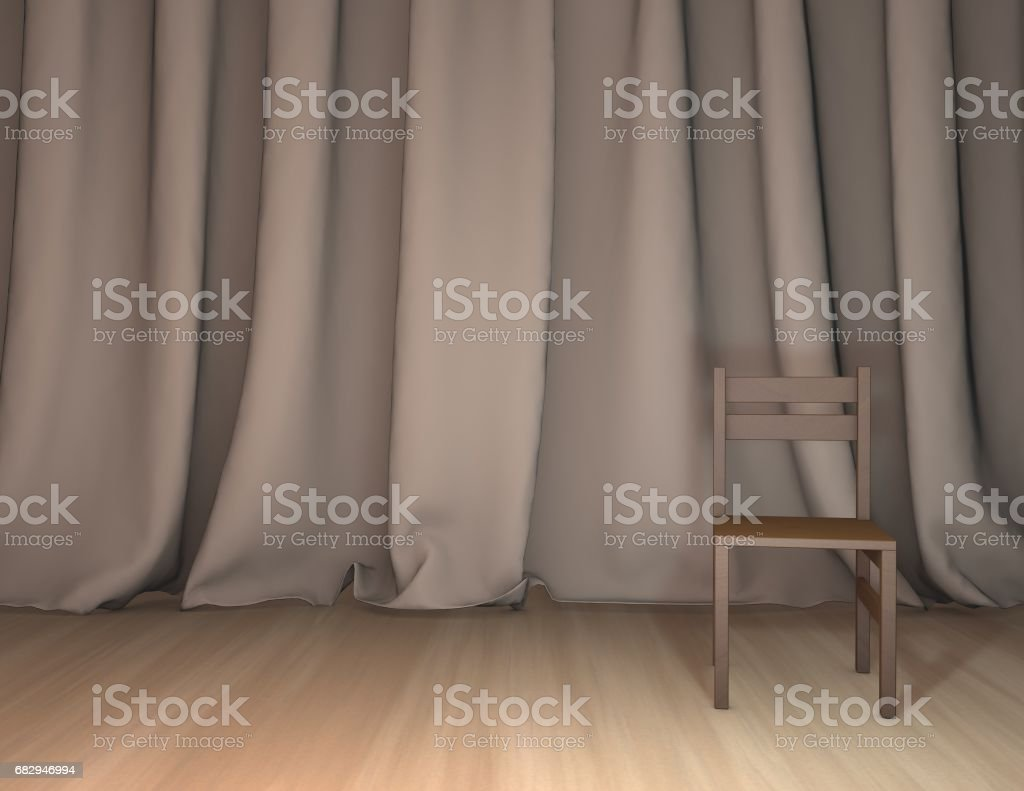 Business presentation background with curtains and empty stage. royalty-free stock photo