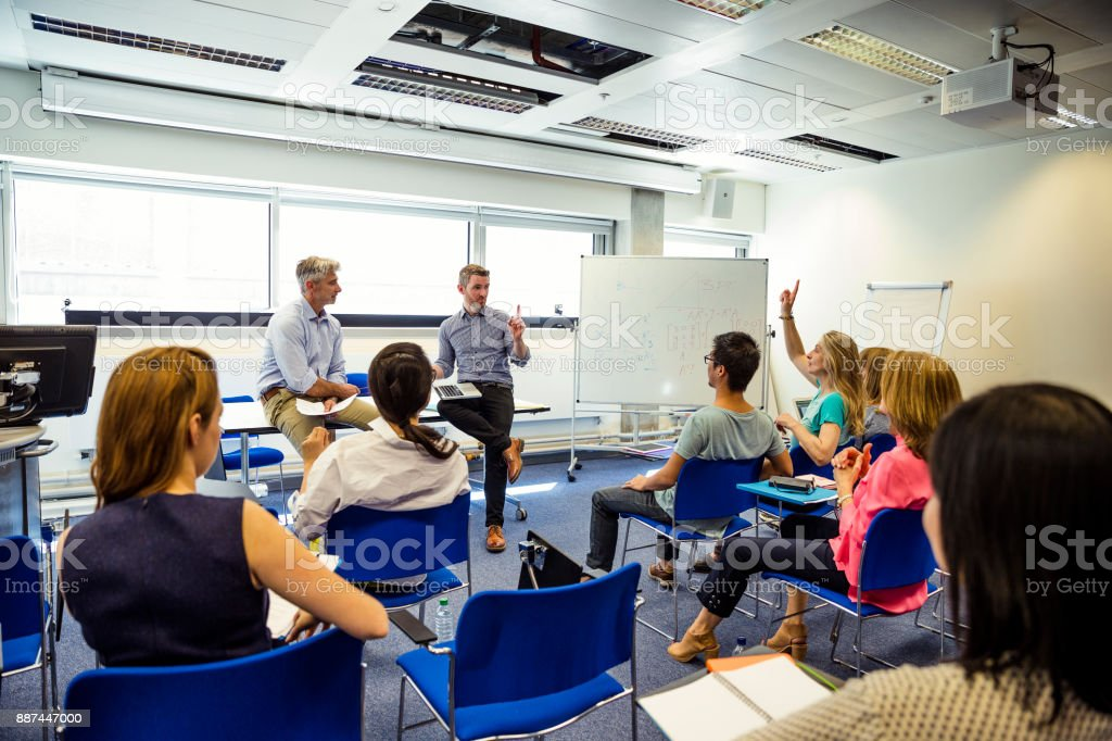 Business Presentation in Progress stock photo