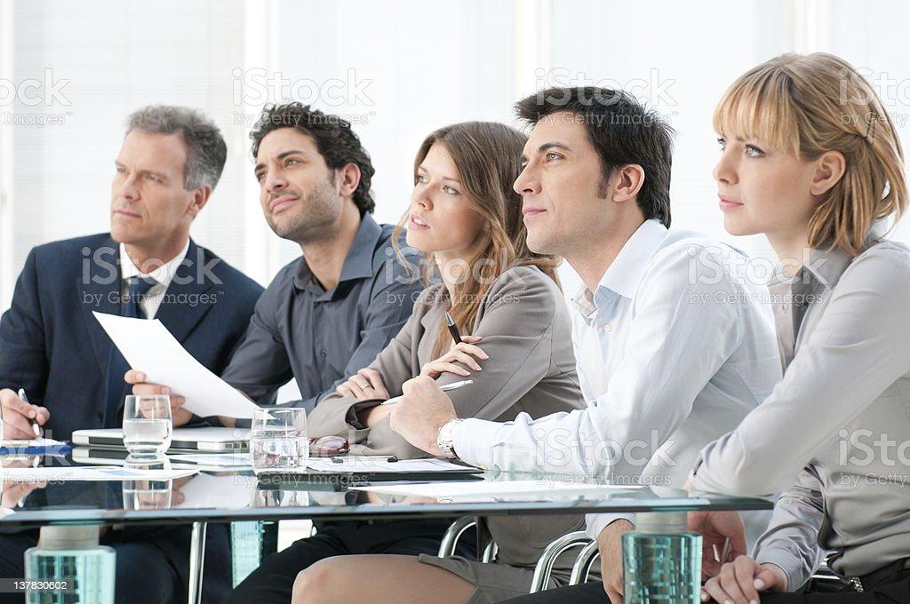 Business presentation stock photo