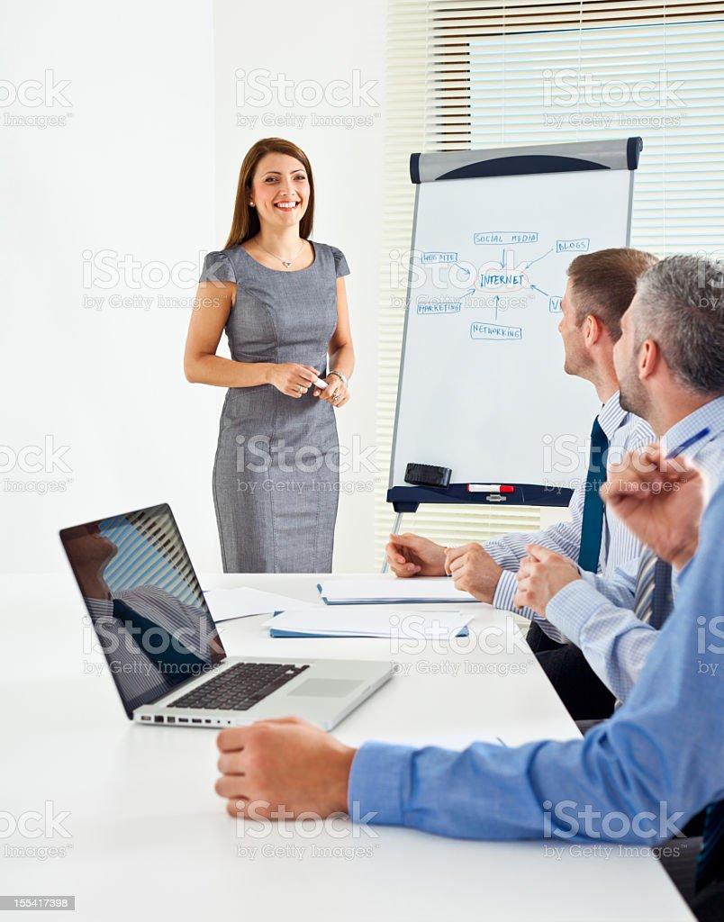 Business presentation  Adult Stock Photo