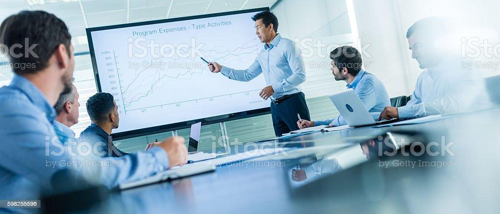 Elegant Business Presentation Stock Photo