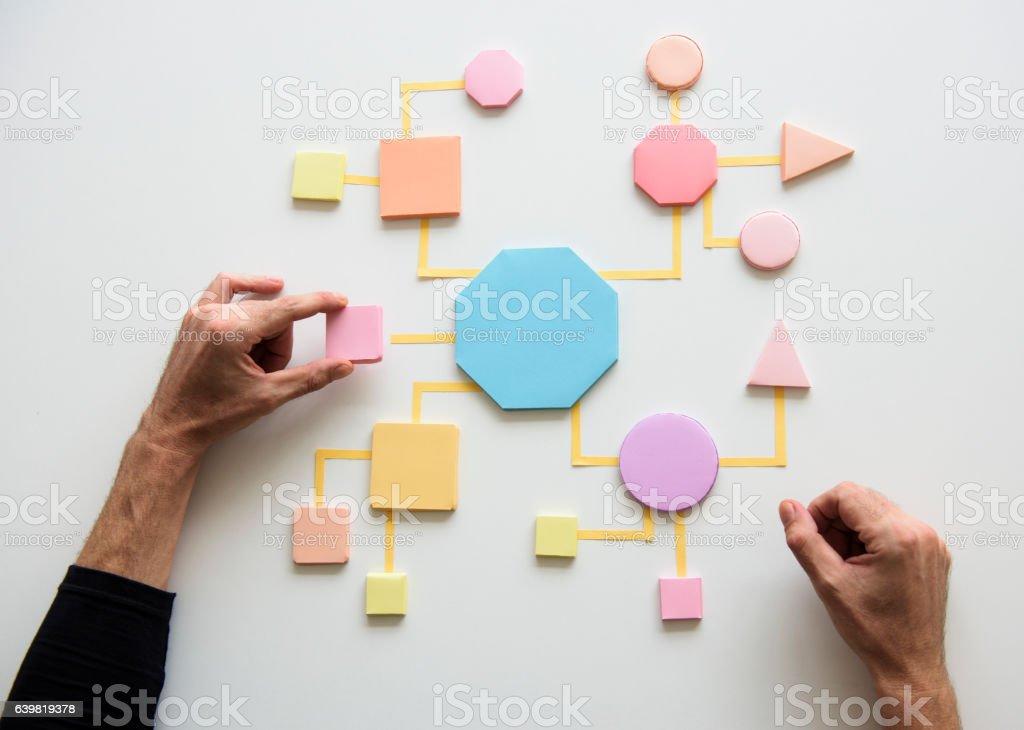 Business Process Concept Shapes Paper ロイヤリティフリーストックフォト