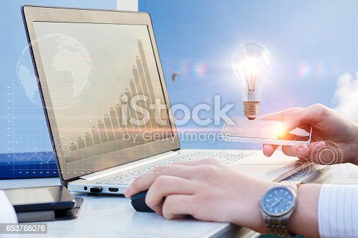 istock Business process on mobile devices. 653768076