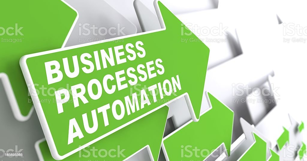 Business Processes Automation Concept. stock photo