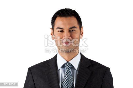 Head & Shoulders Portrait Of A Confident Asian Businessman. Over 100 More Shots Of This Model:
