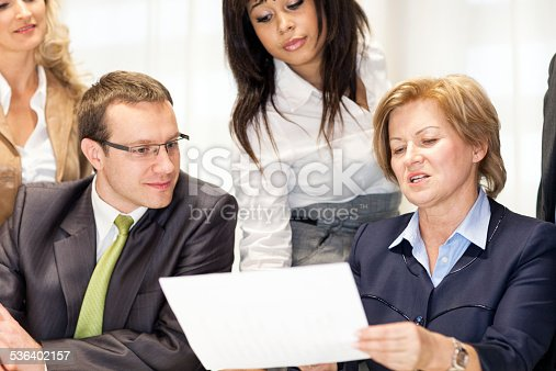 istock Business Professionals Discussing At Office Table 536402157