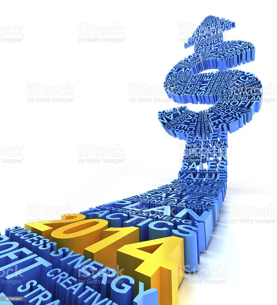 2014 business profit improvement royalty-free stock photo