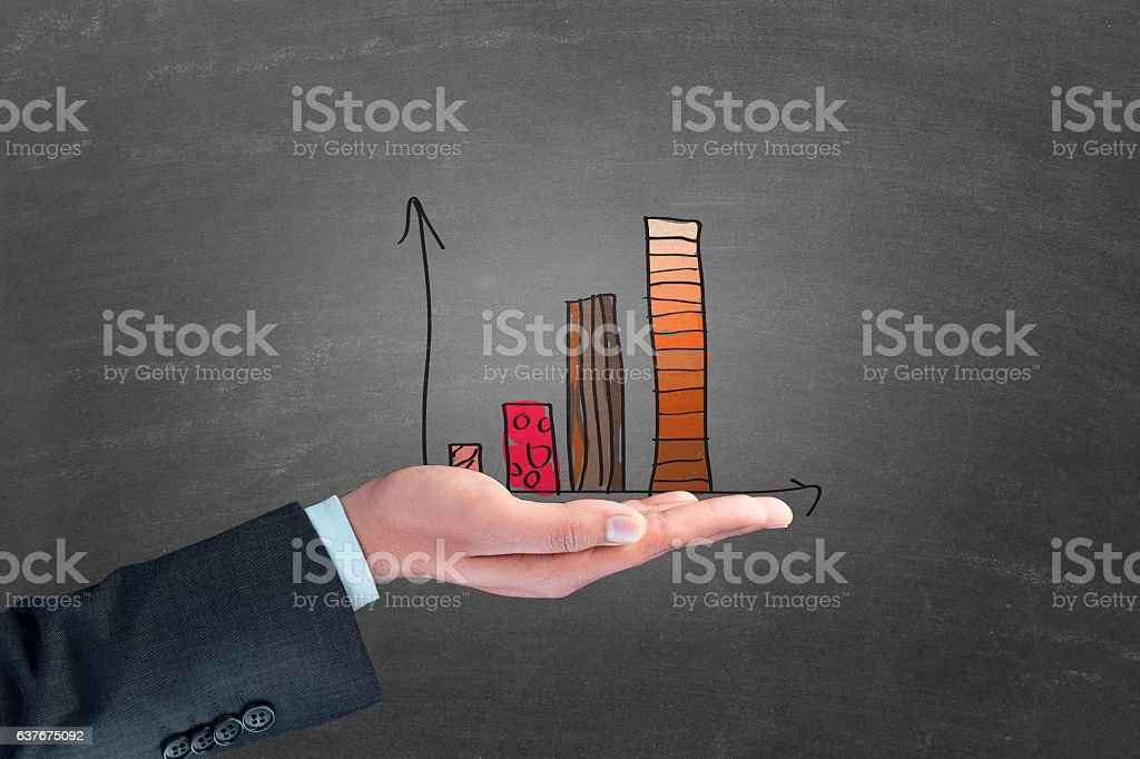 Business progress report stock photo