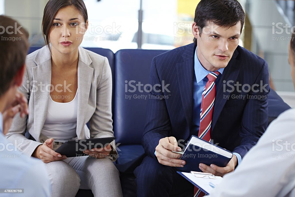 Business project discussion royalty-free stock photo