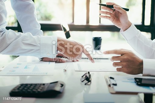 istock Business project team working together at meeting room at office. 1147120472