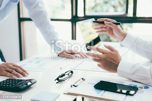 istock Business project team working together at meeting room at office. 1147120474