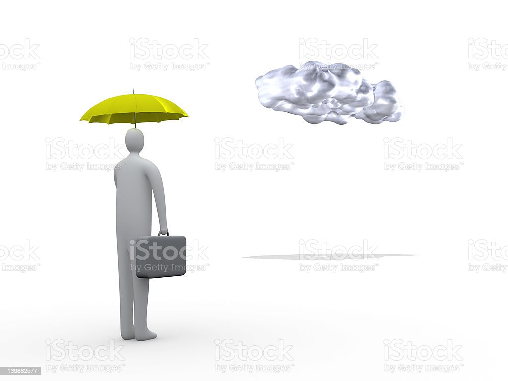 Business Protection royalty-free stock photo
