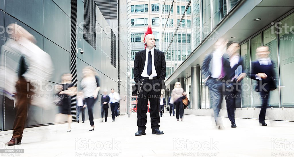 business punk stock photo