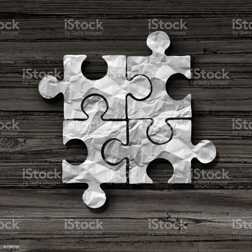 Business Puzzle Concept stock photo