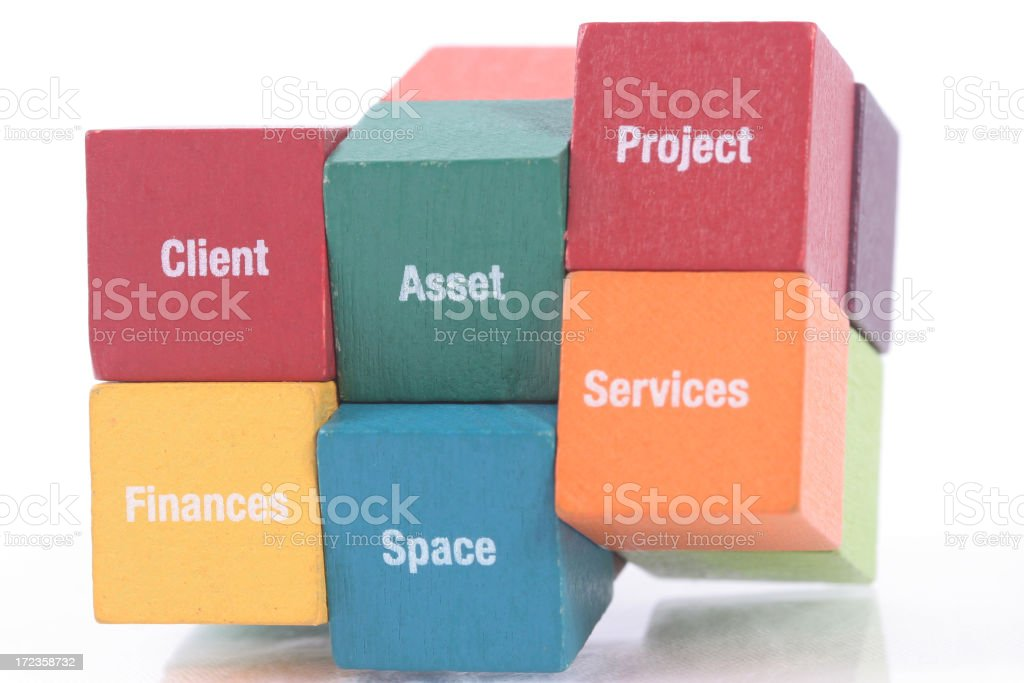 Business Puzzle Cube royalty-free stock photo