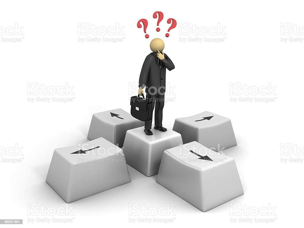 Business Question royalty-free stock photo
