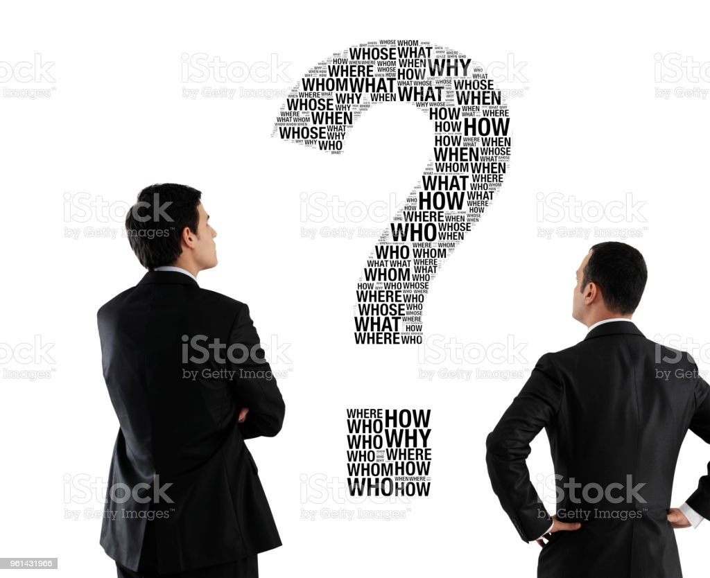 Business questions stock photo