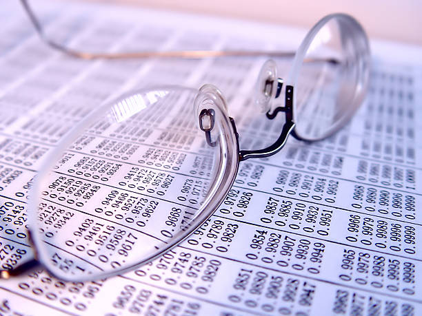 Business Reading Glasses stock photo