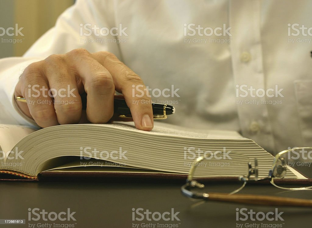 Business Reading stock photo