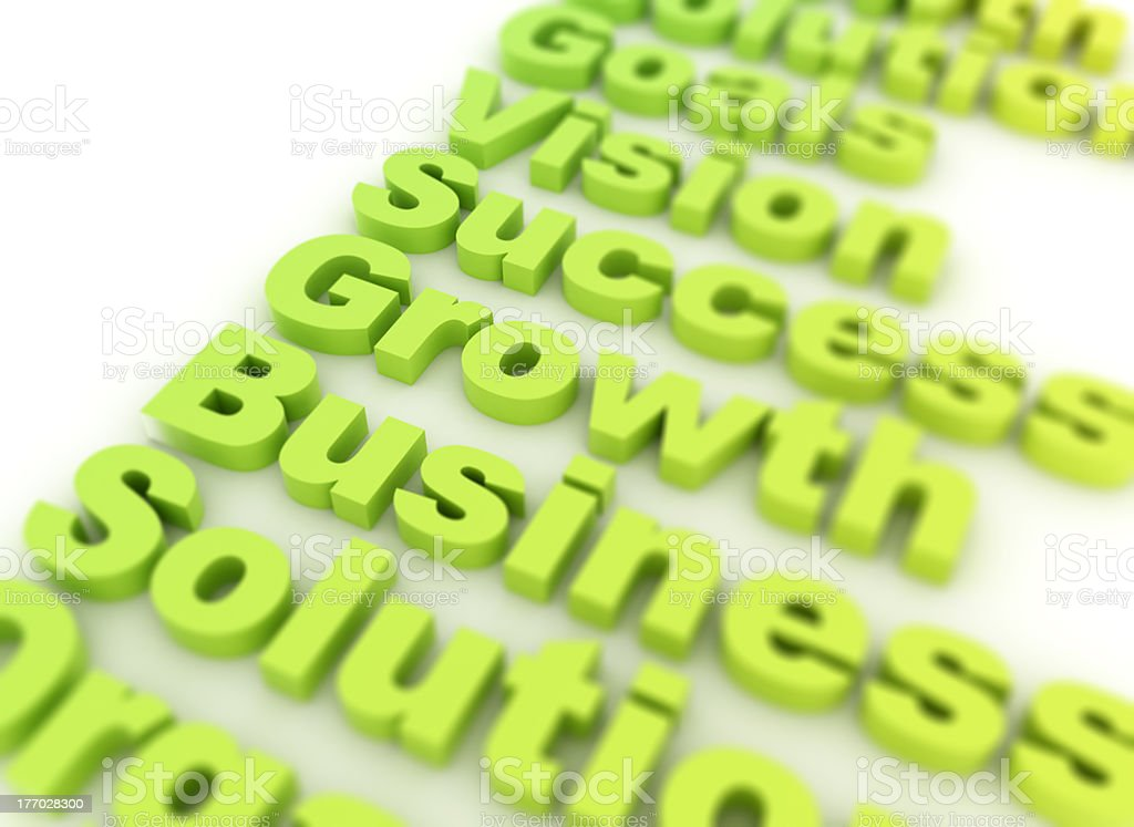 Business related words royalty-free stock photo