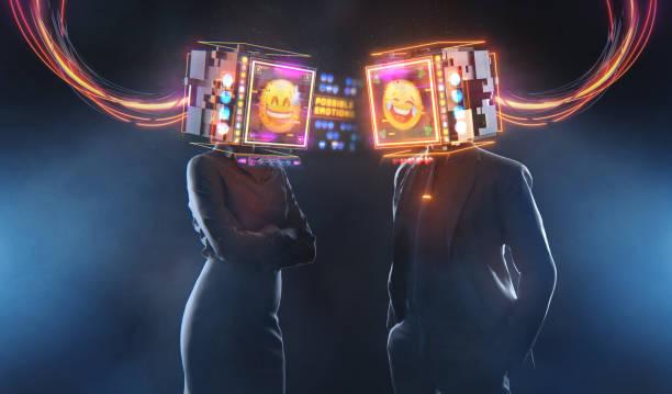 business relations 3d render futuristic concept - business woman hologram imagens e fotografias de stock