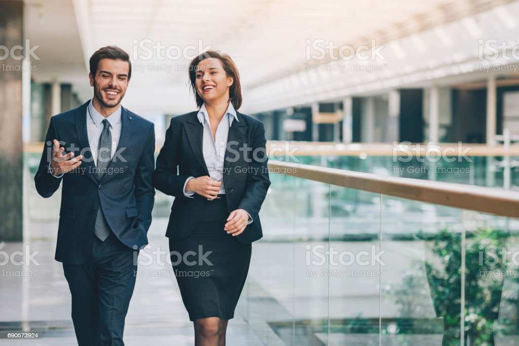 Business relationships stock photo
