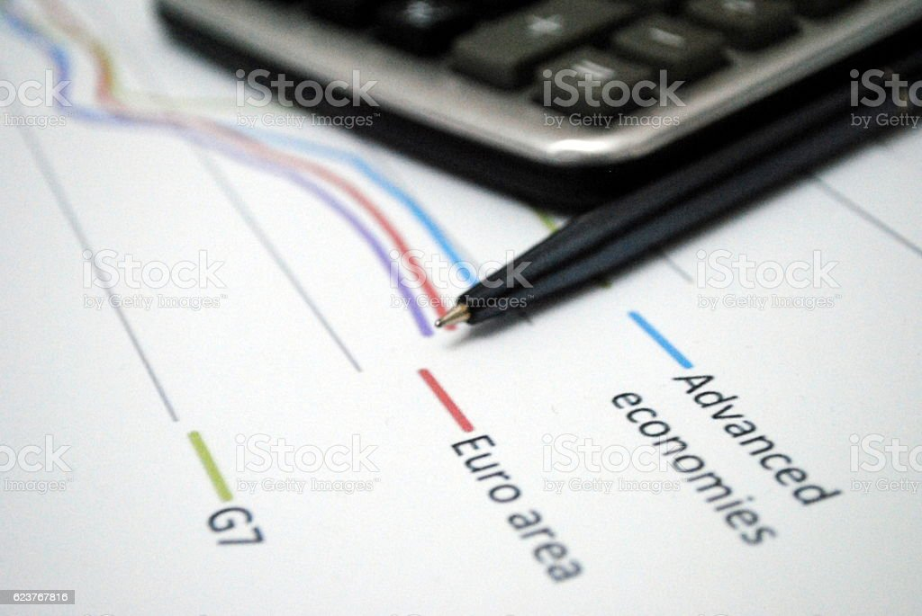 Business report, finance, audit, analytics, what makes money stock photo
