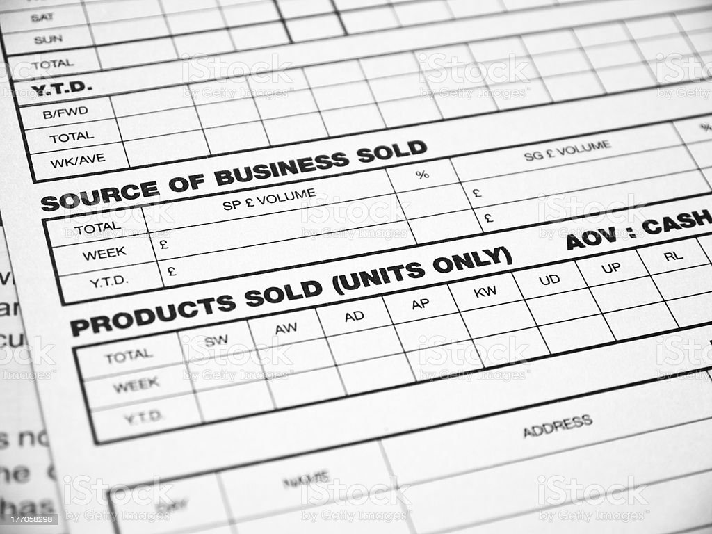 Business report form royalty-free stock photo