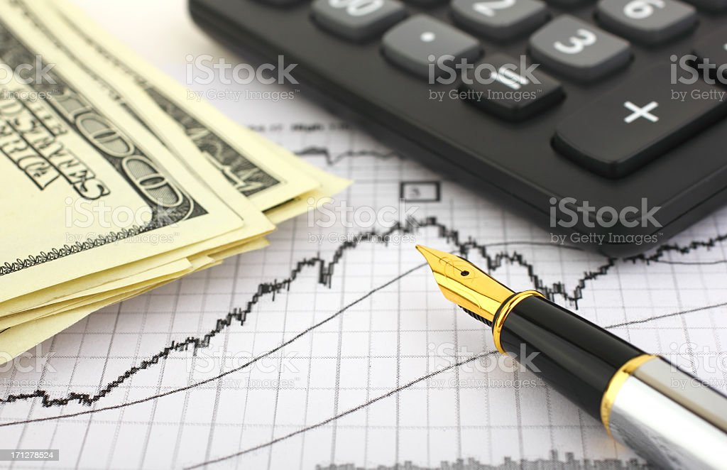 Business Report royalty-free stock photo