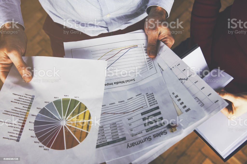 business reports concept stock photo