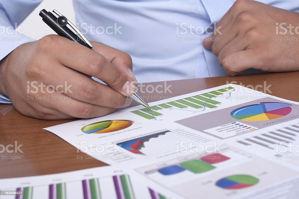 business researching royalty-free stock photo