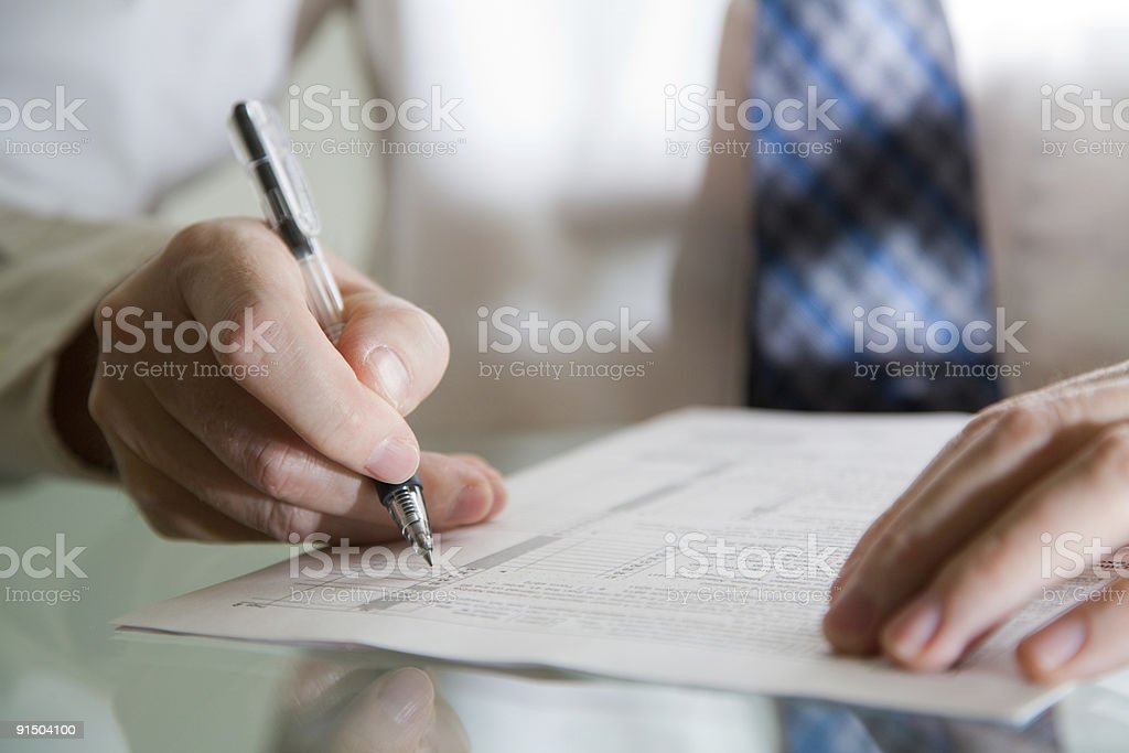 Business review royalty-free stock photo
