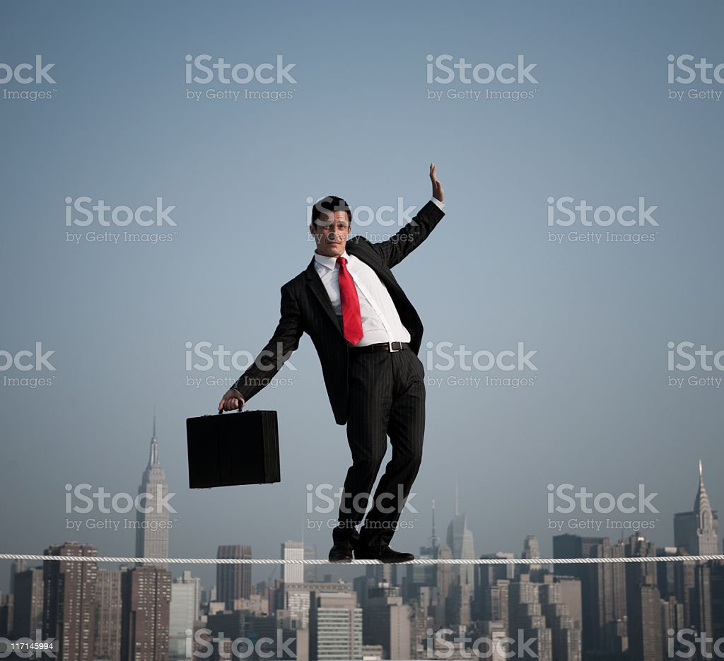 Business Risk in the City  Adult Stock Photo