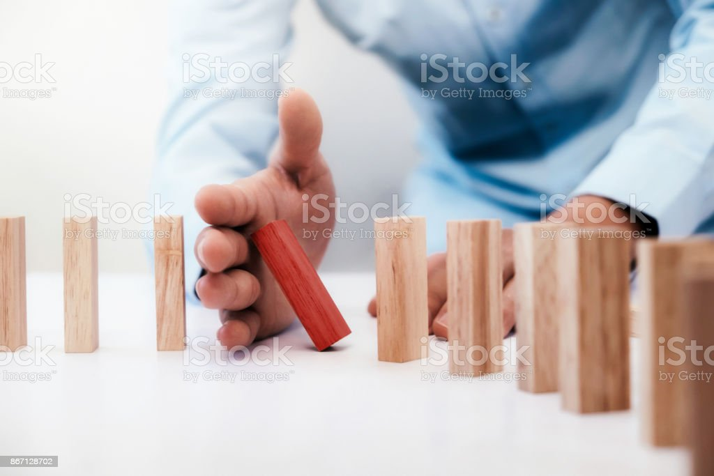 Business risk, strategy and planing concept idea. stock photo