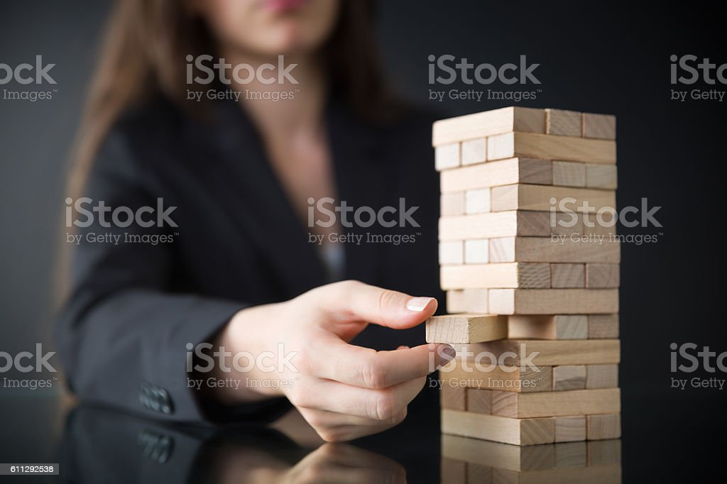 Business risks stock photo