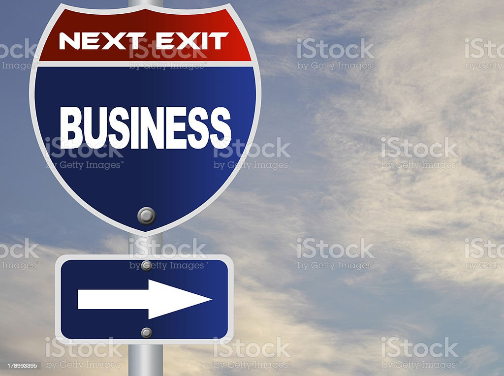 Business road sign royalty-free stock photo