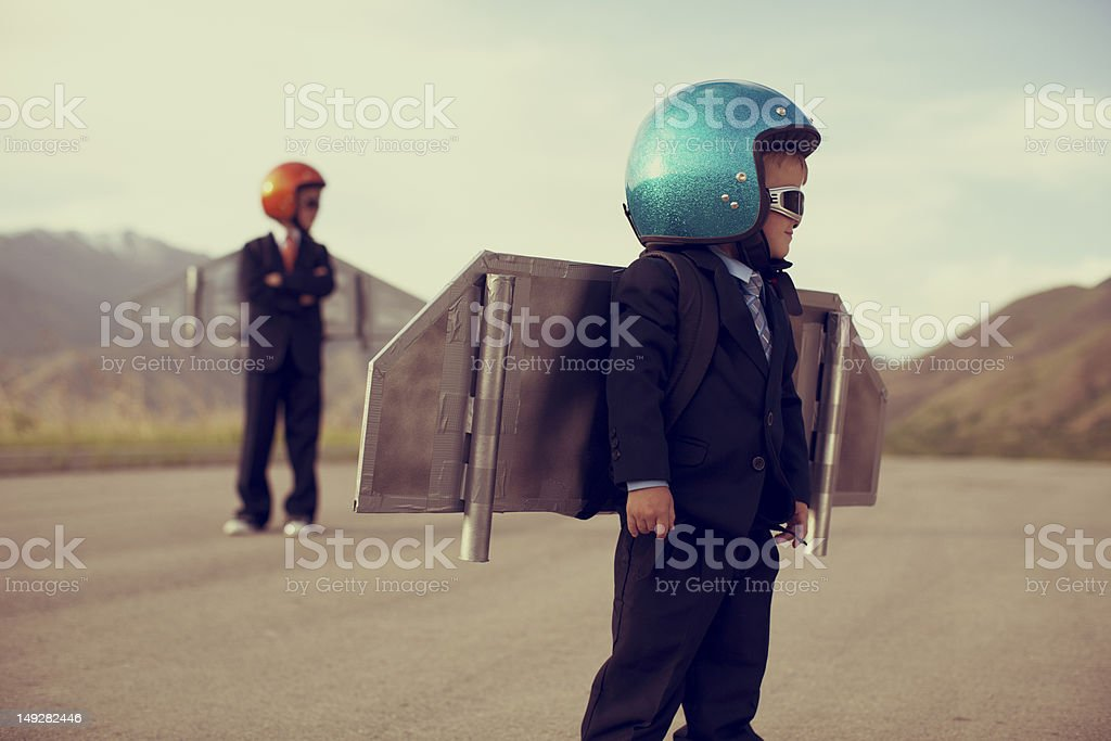 Business Rocket Boys royalty-free stock photo