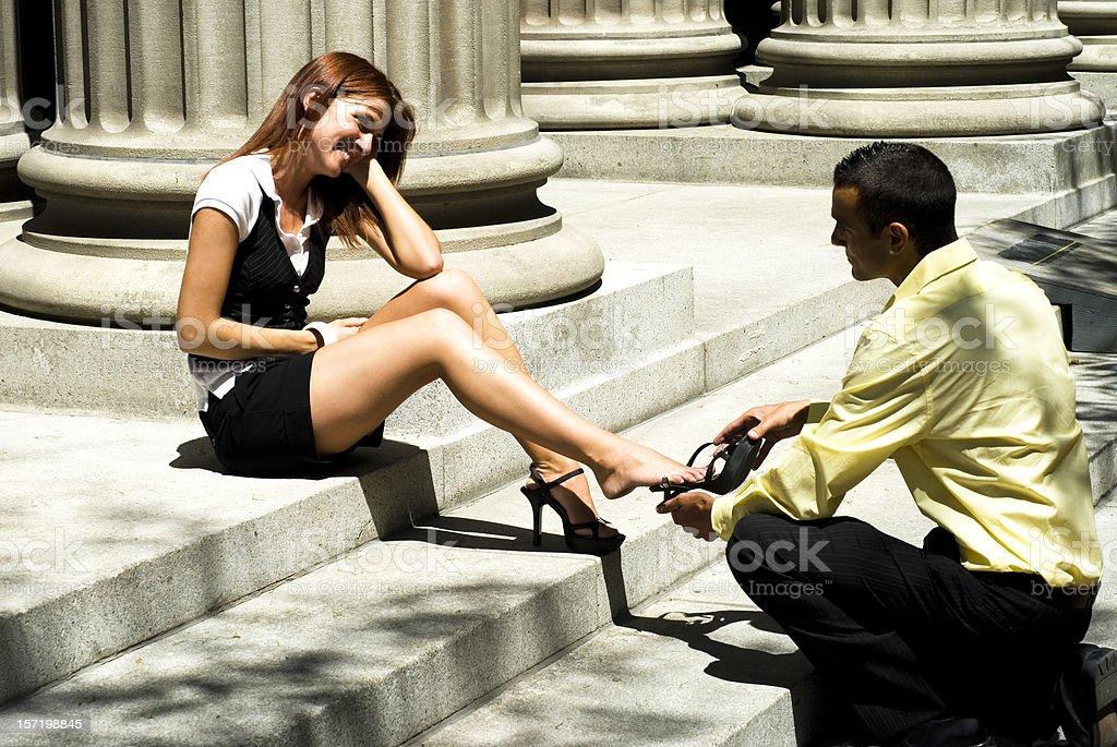 Business romance royalty-free stock photo