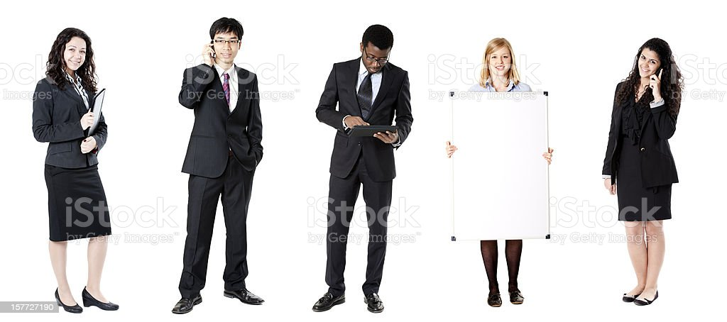 Business row royalty-free stock photo